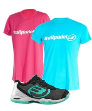PACK BULLPADEL BEDAX Y CAMISETAS BULLPADEL