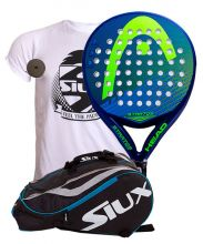 PACK HEAD STRATOS AND SIUX MASTERCOMBI BLUE PADEL RACKET BAG