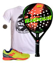 PACK BABOLAT VIPER CARBON AND PULSION WPT PADEL SHOES