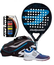 PACK BULLPADEL SKY 2019 PADEL RACKET AND SIUX PADEL RACKET BAG