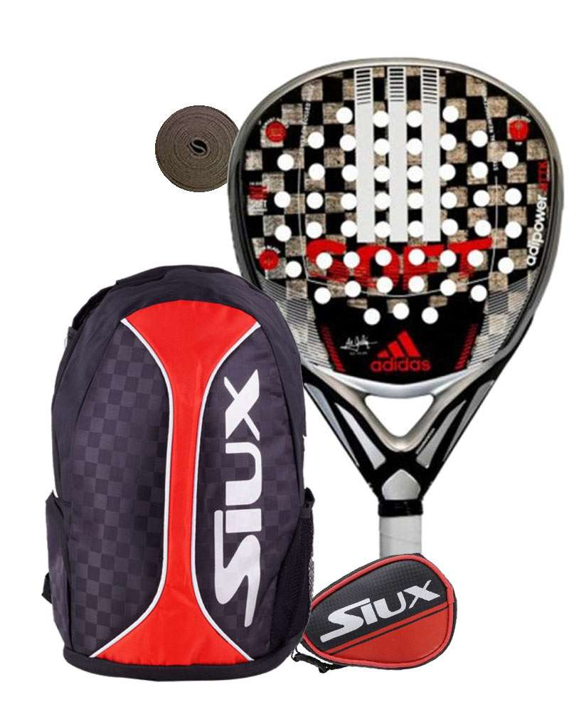 Parpadeo Ganar control Asado  Pack Adidas Adipower ATTK soft 1.8 padel racket and Siux Trail backpack