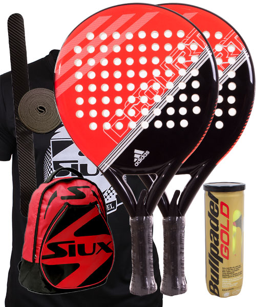cheap for discount 66585 373e9 PACK 2 ADIDAS FAST COURT RED AND SIUX RED BACKPACK