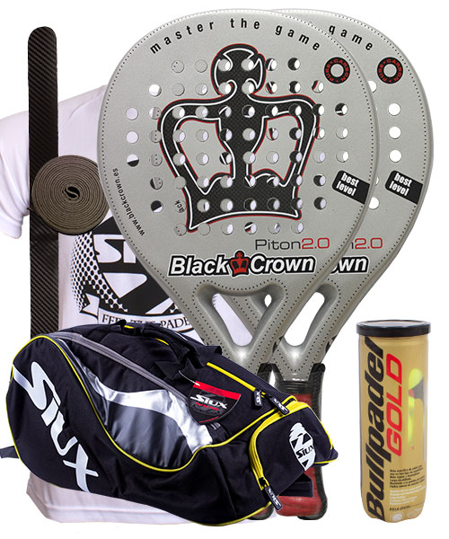 PACK 2 PALAS BLACK CROWN PITON 2.0 Y PALETERO SIUX MASTERCOMBI
