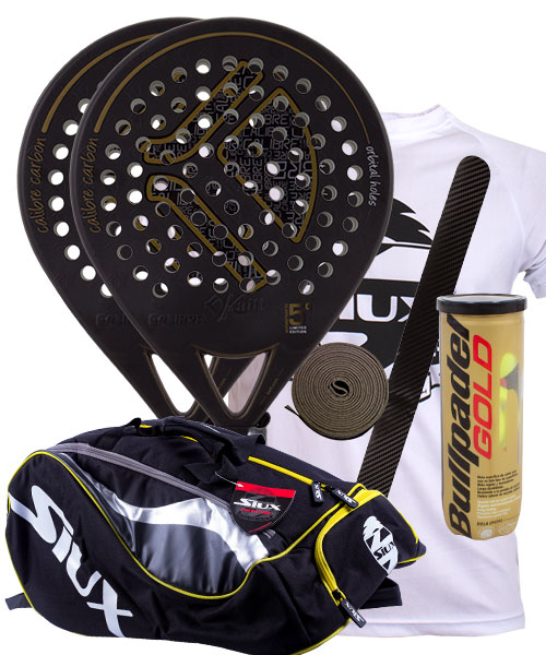 PACK 2 KAITT CALIBRE 2016 PADEL RACKETS AND SIUX MASTERCOMBI PADEL BAG