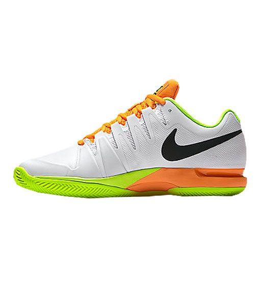 suicidio Reportero Guión  Nike Zoom Vapor 9.5 Tour Clay White Orange - Nike quality padel shoes