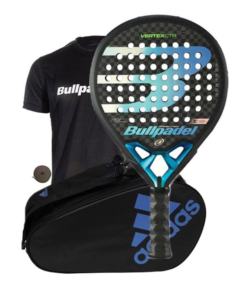 PACK BULLPADEL VERTEX CONTROL 20 AND PADEL BAG ADIDAS CONTROL CRB