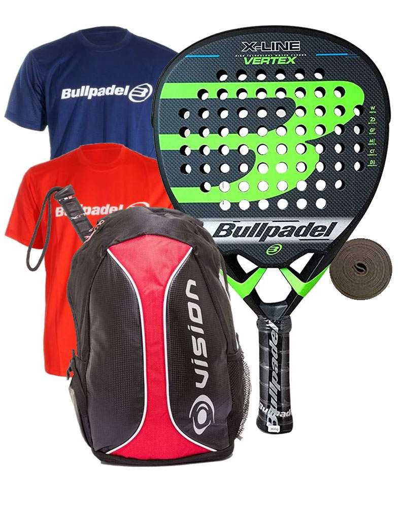 PACK BULLPADEL VERTEX X-LINE E 2 T-SHIRTS BULLPADEL