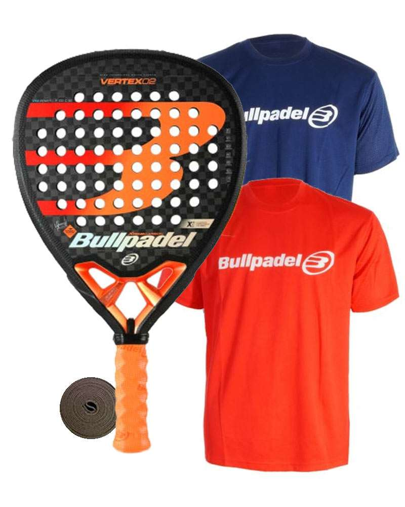 PACK BULLPADEL VERTEX 2 CON CAMISETAS BULLPADEL