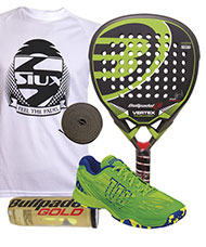 PACK BULLPADEL VERTEX Y ZAPATILLAS WILSON KAOS
