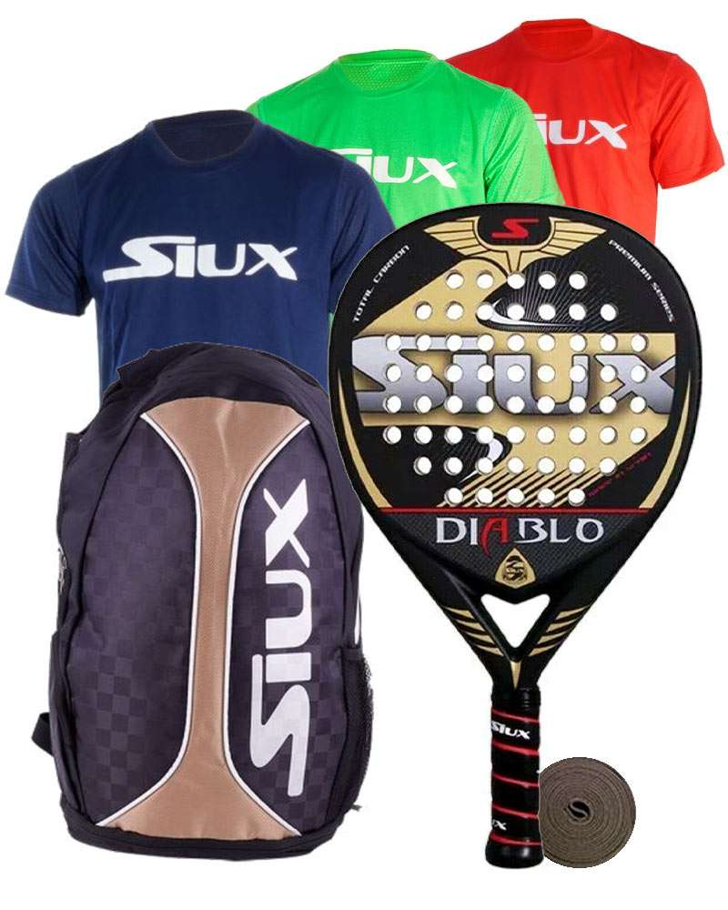 PACK SIUX DIABLO MATTE AND BACKPACK SIUX TRAIL 2.0 GOLD