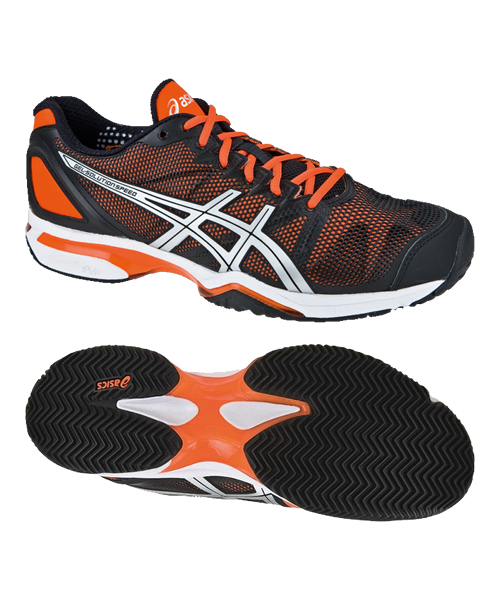 sale retailer 67350 65c3b ASICS GEL SOLUTION SPEED CLAY NEGRO NARANJA