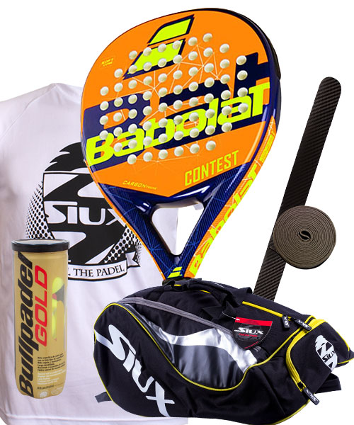 PACK BABOLAT CONTEST  AND SIUX MASTERCOMBI PADEL BAG