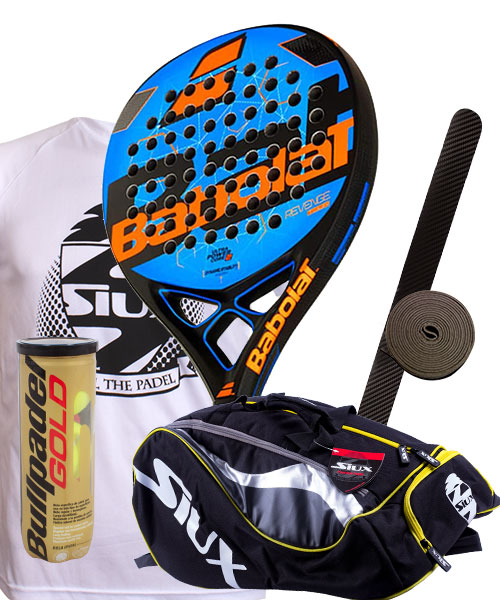 PACK BABOLAT REVENGE TOUR AND SIUX MASTERCOMBI PADEL BAG