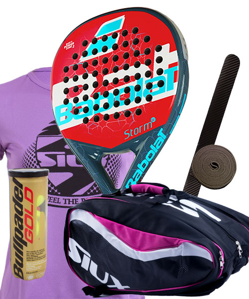 PACK BABOLAT STORM WOMAN AND SIUX SX SPARTAN PADEL BAG