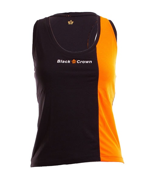 CAMISETA BLACK CROWN BERNA NARANJA NEGRO