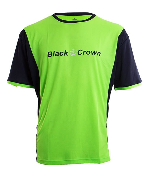 T-SHIRT BLACK CROWN KEEP GREEN NAVY