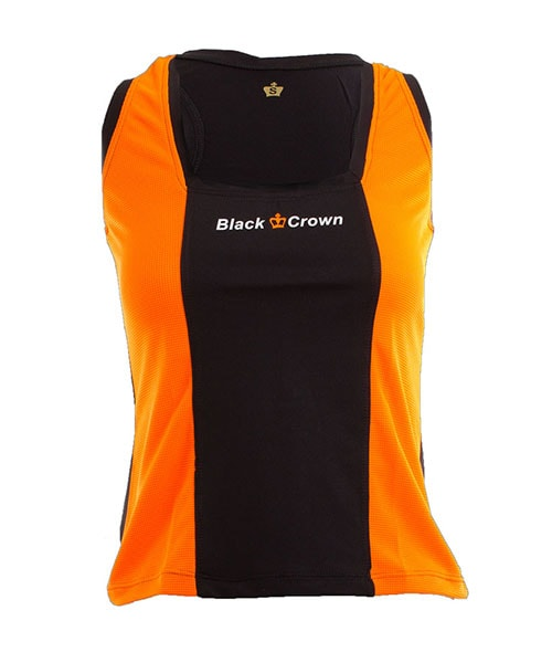 CAMISETA BLACK CROWN ZURICH NARANJA NEGRO