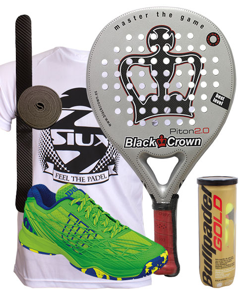 PACK BLACK CROWN PITON 2.0 Y ZAPATILLAS WILSON KAOS CLAY