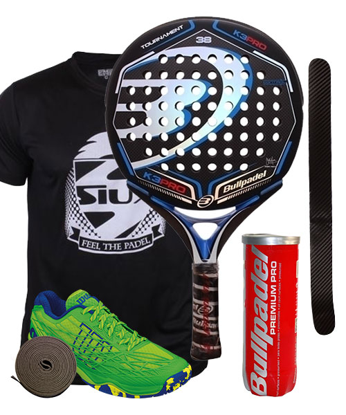 PACK BULLPADEL K3 PRO 2015 Y ZAPATILLAS