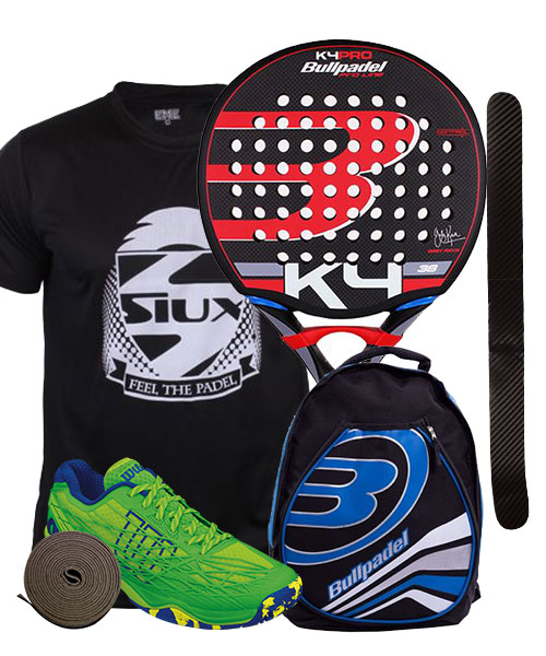 PACK BULLPADEL K4 PRO 2016 Y ZAPATILLAS