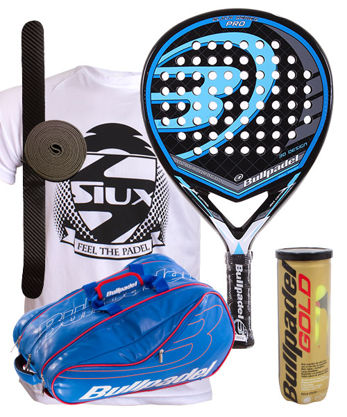 PACK BULLPADEL DRAGON 2015 Y PALETERO BULLPADEL AVANTLINE AZUL