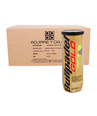 BOX OF 24 CANS OF 3 BALLS BULLPADEL GOLD