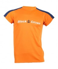 T-SHIRT  BLACK CROWN GAME ORANGE