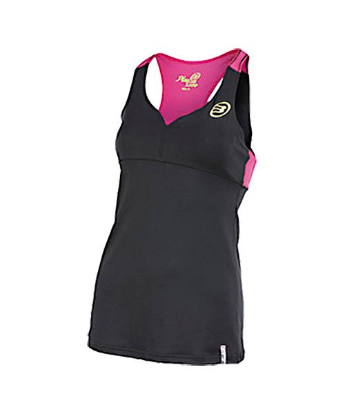 68a72d0b599 Camiseta de Tirantes Bullpadel Busy Negra - Mujer - Padelnuestro