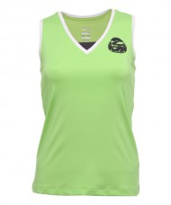 SLEEVELESS BLOUSE SIUX S-BALBINA GREY/GREEN LIME