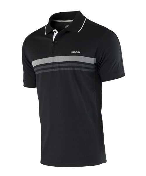 HEAD CLUB BLACK TECHNICAL POLO SHIRT