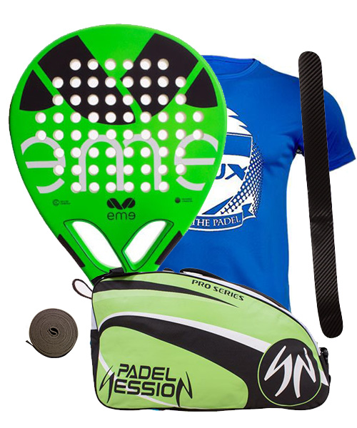 PACK EME MOVE ENJOY Y PALETERO PADEL SESSION PRO SERIES
