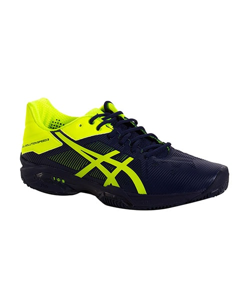 b8fdec42f ASICS GEL SOLUTION SPEED 3 CLAY MARINO AMARILLO FLUOR E601N 4907