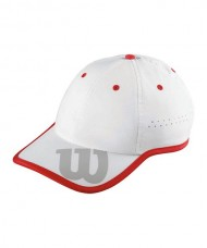 CASQUETTE WILSON BASEBALL HAT BLANCHE ROUGE