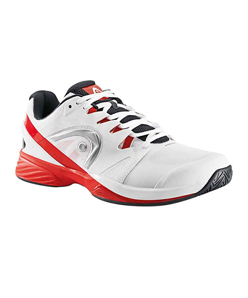 HEAD NITRO PRO CLAY WHITE AND RED PADEL SHOES