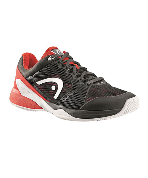 HEAD REVOLT PRO 2.0 CLAY  BLACK RED PADEL SHOES