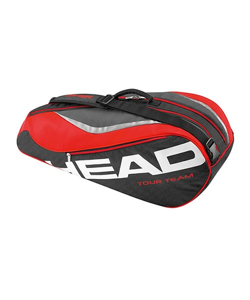 RACKET BAG TOUR TEAM 6R COMBI BLACK RED
