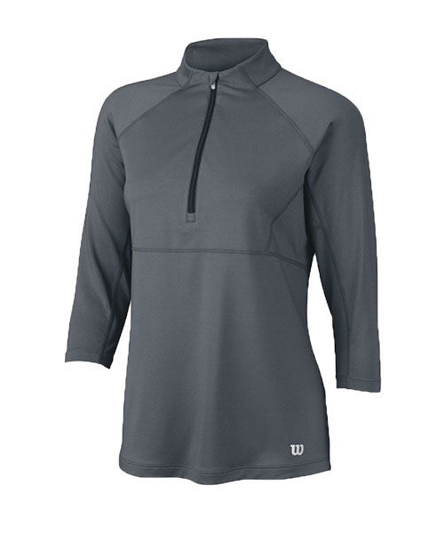 SUDADERA WILSON FW 3QTR MUJER GRIS