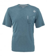 CAMISETA TEXTURED CREW BLUE MIRAGE