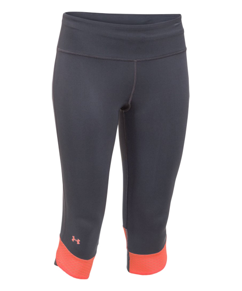 UNDER ARMOUR MALLA NEGRA NARANJA COMPRESSION CAPRY 1243045 041