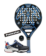 PACK PADEL SESSION MATRIX AZUL Y ZAPATILLAS SIUX