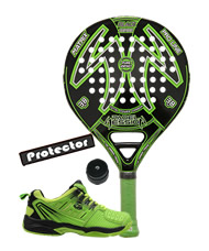 PACK PADEL SESSION MATRIX VERDE Y ZAPATILLAS SIUX
