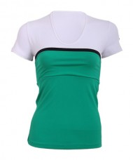 SHORT SLEEVE T-SHIRT MI ACTIVEWEAR HUDD GREEN WHITE