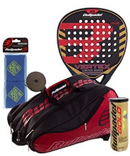 PACK BULLPADEL VERTEX SPECIAL EDITION AND PADEL RACKET BAG AVANTLINE RED
