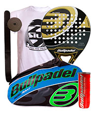 PACK BULLPADEL GOLD EDITION 2015 y PALETERO