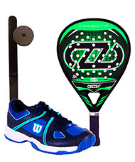 PACK CAZZEC DRAGONIA GREEN AND PADELSHOES WILSON