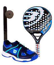 PACK BULLPADEL K2 PRO LTD ZAPATILLAS WILSON NVISION ENVY