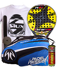 PACK STAR VIE R 8.1 CARBON 2015 Y PALETERO PADEL SESSION