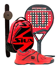PACK WILSON CARBON FORCE 2016 Y ZAPATILLAS WILSON NVISION CLAY COURT