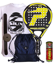 PACK POWER PADEL 1000 GLASS FIBER AMARILLA Y BOLSA MOCHILA