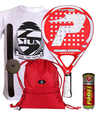 PACK POWER PADEL 1000 GLASS FIBER ROJA Y BOLSA MOCHILA